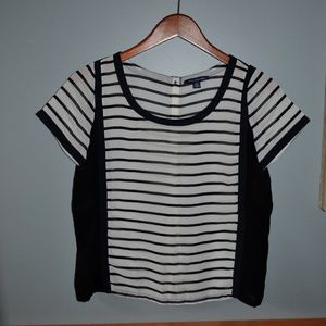 AE Striped Sheer Top